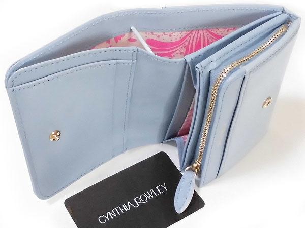 [アウトレット] シンシアローリー 牛革 エナメル 二つ折り財布 ブルー CYNTHIA ROWLEY レディス 箱無し_画像6