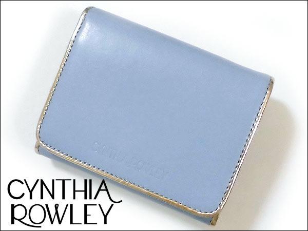 [アウトレット] シンシアローリー 展示品 牛革 二つ折り財布 ブルー CYNTHIA ROWLEY レディス 箱無し_画像1