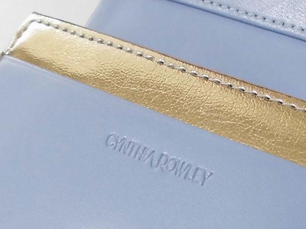 [アウトレット] シンシアローリー 展示品 牛革 二つ折り財布 ブルー CYNTHIA ROWLEY レディス 箱無し_画像6