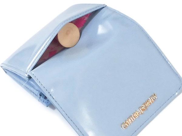 [アウトレット] シンシアローリー 牛革 エナメル 二つ折り財布 ブルー CYNTHIA ROWLEY レディス 箱無し_画像3