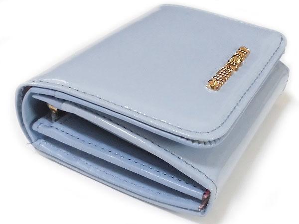 [アウトレット] シンシアローリー 牛革 エナメル 二つ折り財布 ブルー CYNTHIA ROWLEY レディス 箱無し_画像4