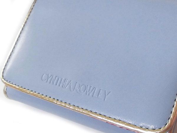 [アウトレット] シンシアローリー 展示品 牛革 二つ折り財布 ブルー CYNTHIA ROWLEY レディス 箱無し_画像2