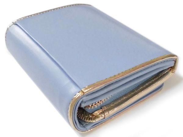 [アウトレット] シンシアローリー 展示品 牛革 二つ折り財布 ブルー CYNTHIA ROWLEY レディス 箱無し_画像4