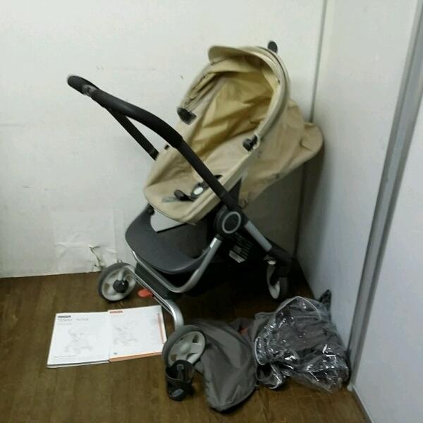 Stokke Scoot ストッケ スクート ベビーカー 対象年齢1ヶ月~ ハイシート ストローラー カップホルダー レインカバー 虫除けネット付_画像1