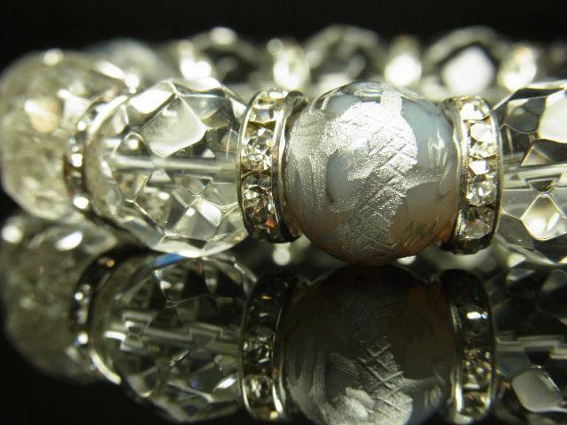 風水神パワーストーン 銀彫皇帝龍 ドラゴンアゲート 64面カット水晶 ブレスレット 14ミリ数珠 開運天然石 メンズ レディース プレゼント_画像5
