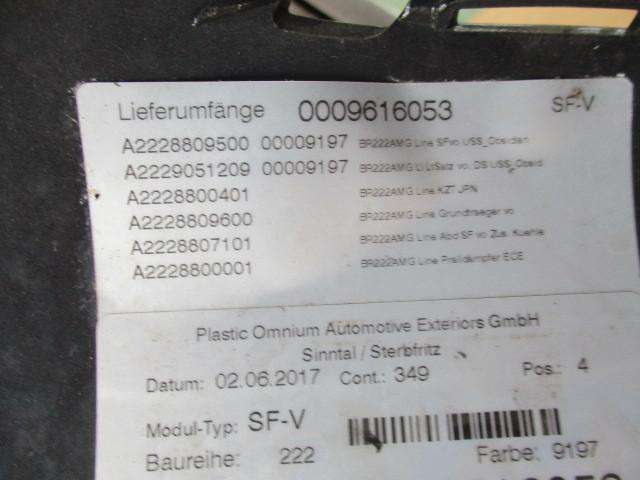 ベンツ純正 W222 Sクラス 後期 AMG フロントバンパー 222 880 9500_画像8