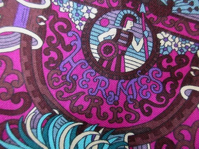 美品 エルメス ■ カシミア65% シルク35% スカーフ140 Sous l'egide de mars 軍神マルス 2018年秋冬 カレ 小物 箱付 HERMES (62686B_画像8