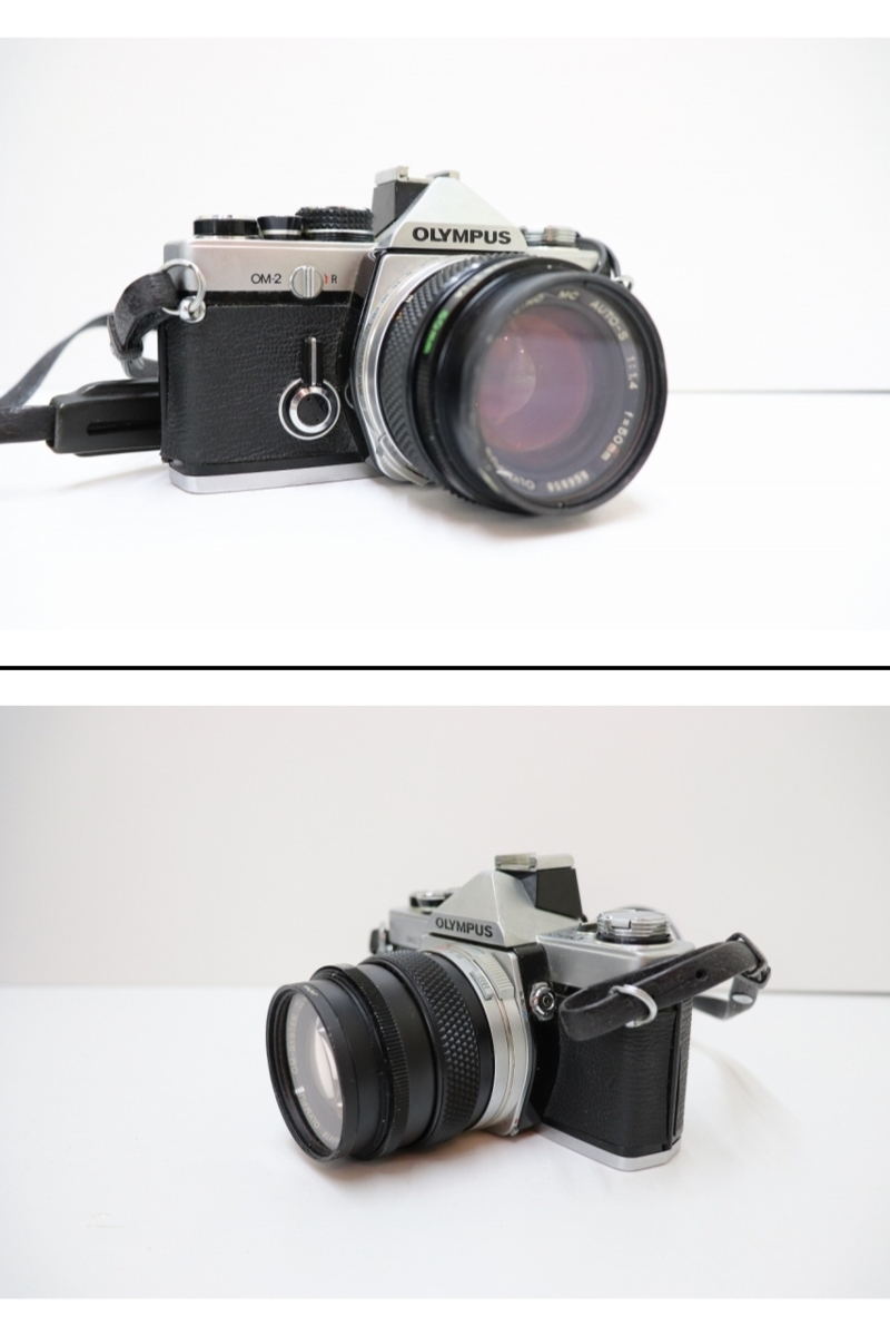 【B3】OLYMPUS オリンパスカメラ OM10 OM-SYSTEM ZUIKO MC AUTO-S 1:1.4 f=50mm/ TAMRON 1:38 80ー210 ACHIEVER828 ケース付き ジャンク_画像2