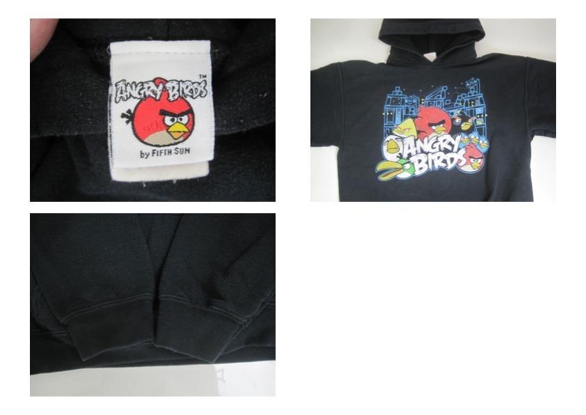 ANGRY BIRDS アングリーバード スウェットパーカー ブラック 黒 メンズSサイズ キャラクター hs-4791_画像4
