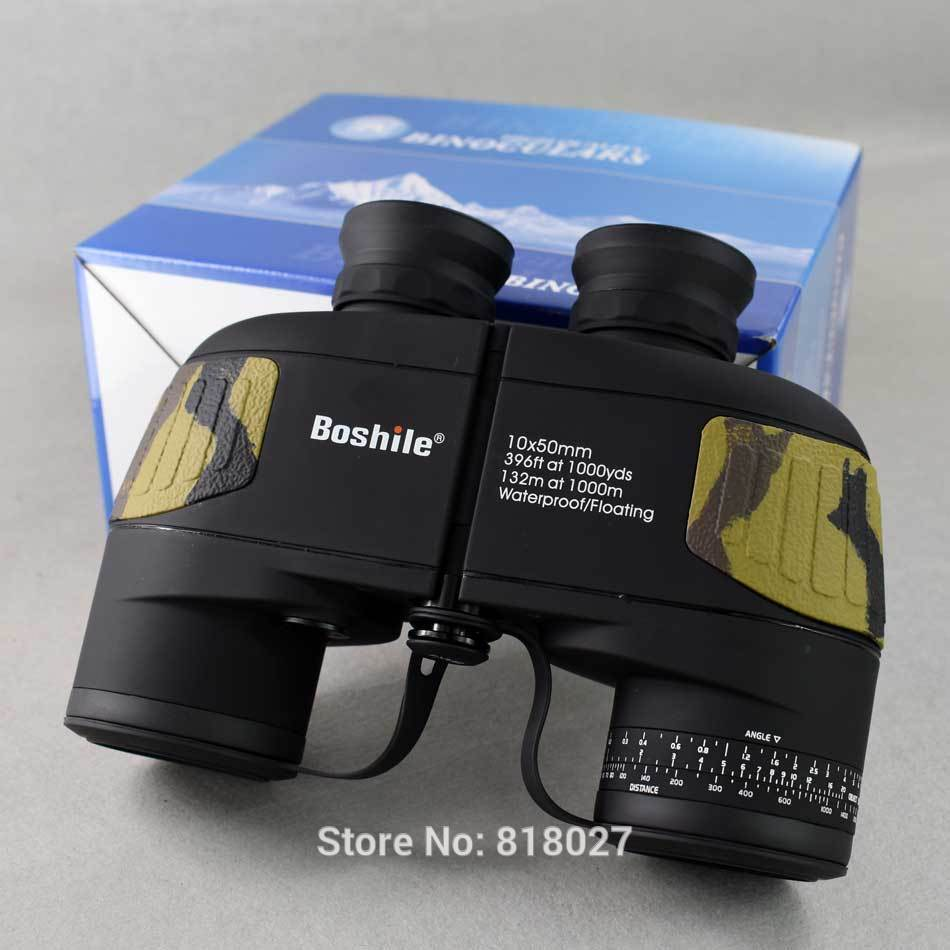 [ free shipping ]Boshile 10X50 binoculars professional army . sea . waterproof telescope HD BAK4 range finder distance color black, camouflage [ new goods ][.. issue possible ]