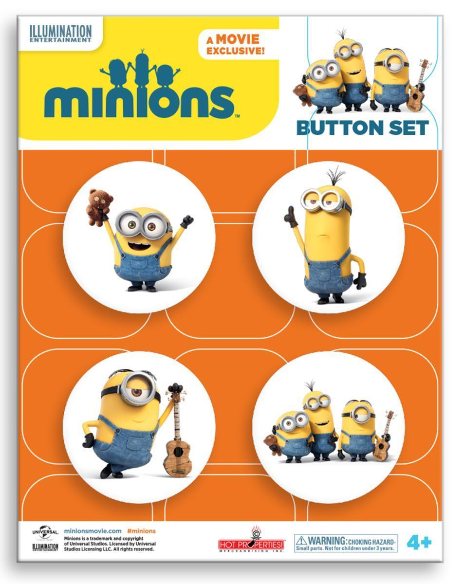 minions (ミニオンズ) Heros button pack 缶バッジ 4個セット_画像1