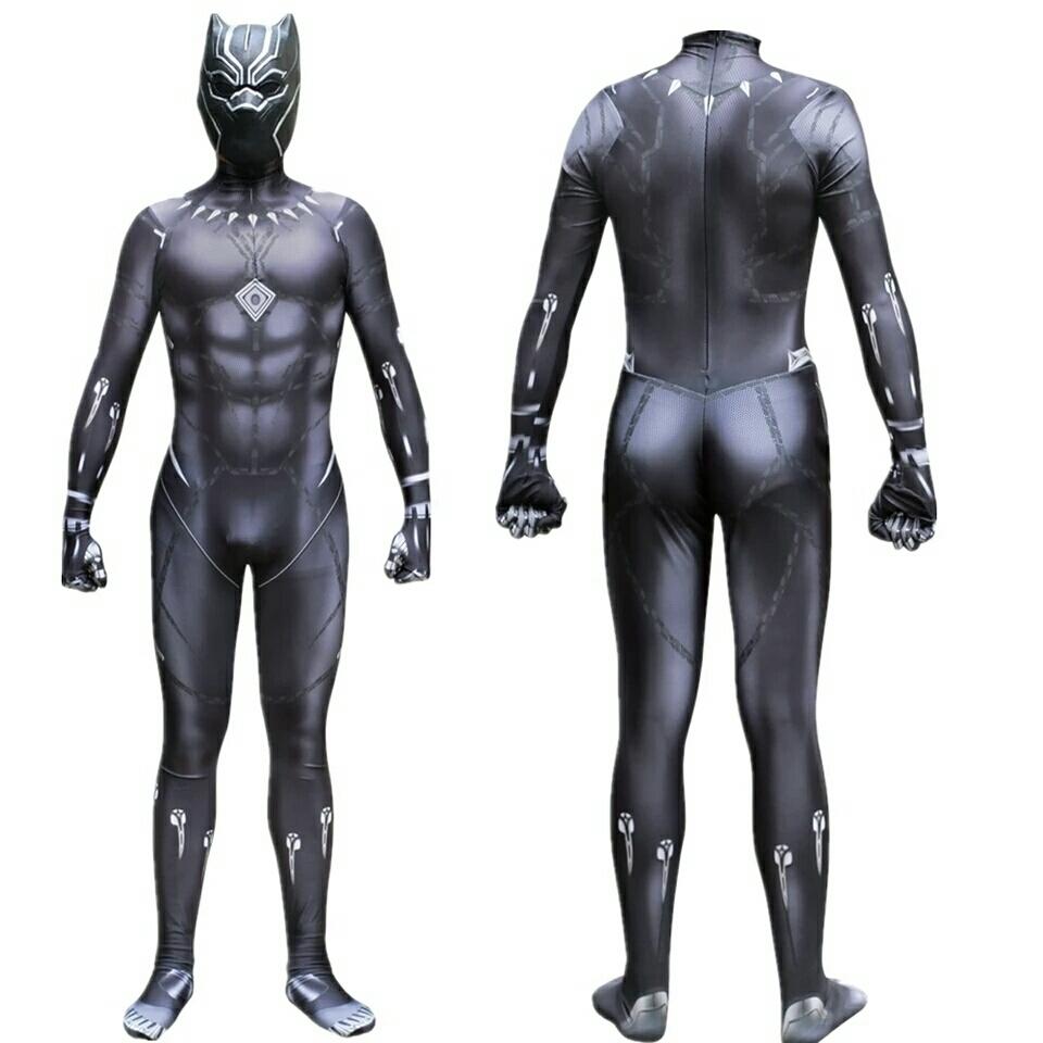 送料無料 ブラックパンサー ハロウィン パーティー イベント コスプレ 仮装 衣装 コスチューム 着ぐるみ キャラクター S M L XL XXL_画像2