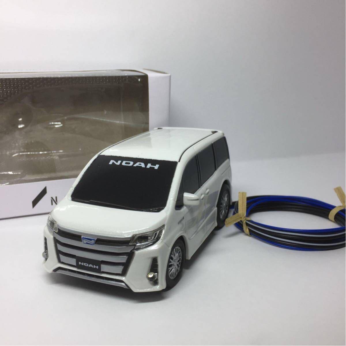 80系 ノア ハイブリッド ホワイト LED セキュリティ スキャナー プルバックカー ミニカー カラーサンプル_画像2