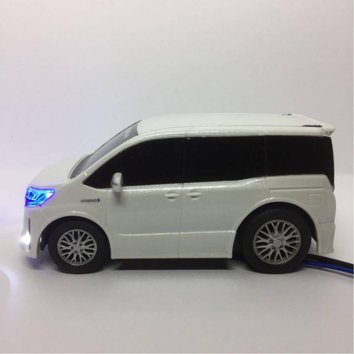 80系 ノア ハイブリッド ホワイト LED セキュリティ スキャナー プルバックカー ミニカー カラーサンプル_画像4