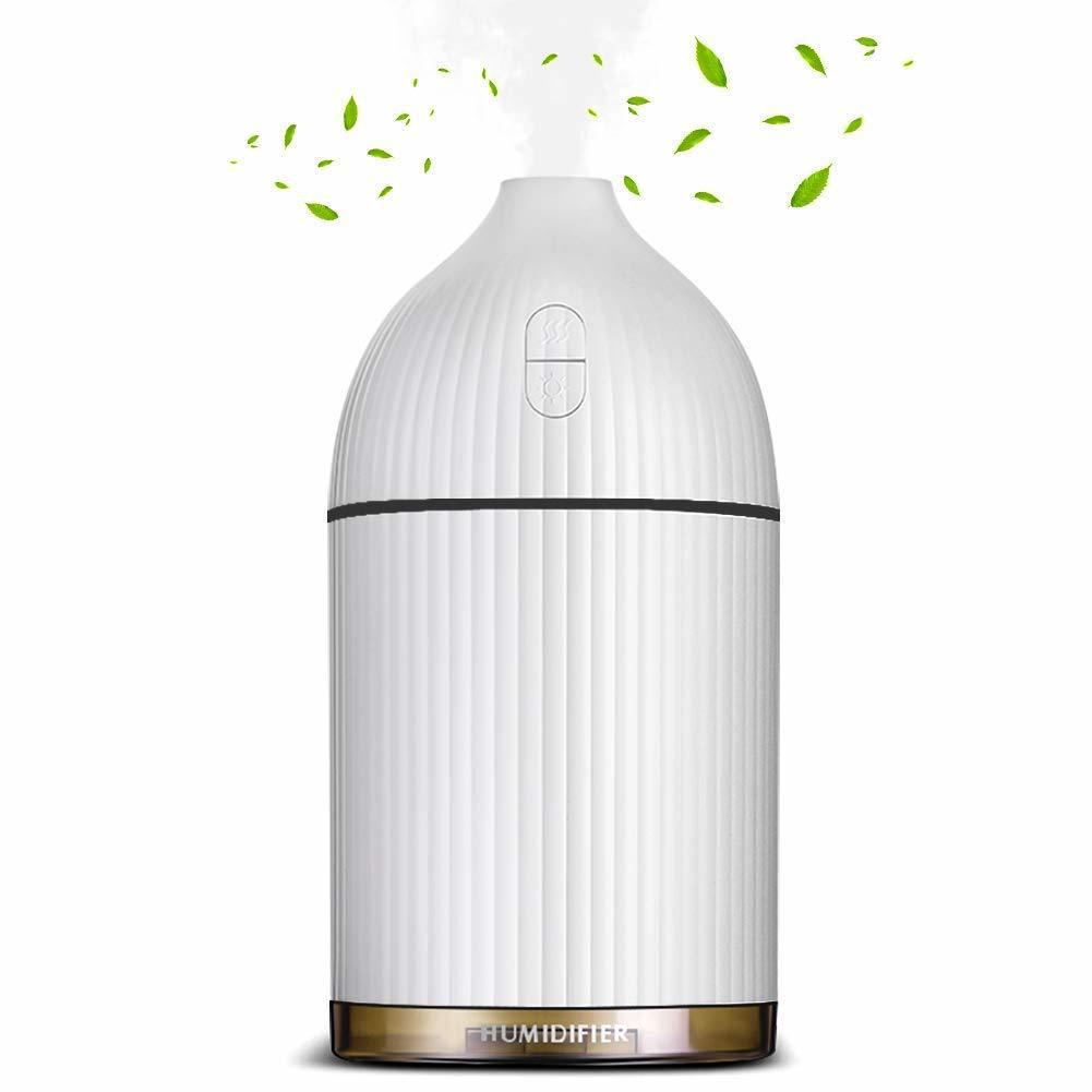 新品●Gritronic アロマディフューザー 加湿器 卓上【2018最新】超音波式 アロマ加湿器 7色変換 LED 搭載 空焚き防止 ミニ加湿器 M0824