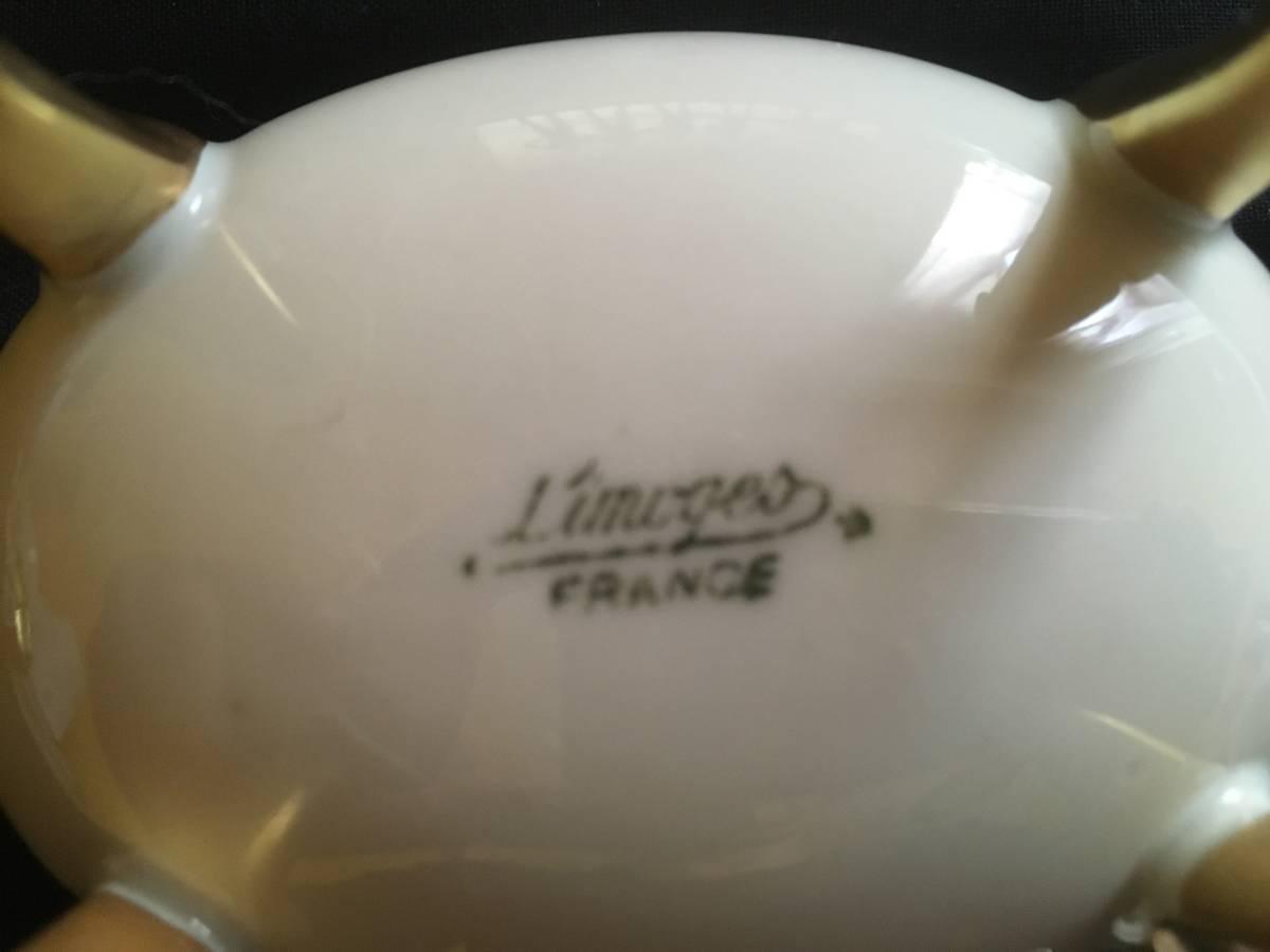 フランスアンティーク リモージュ 4脚小物入れ バラ ハンドペイント _画像6