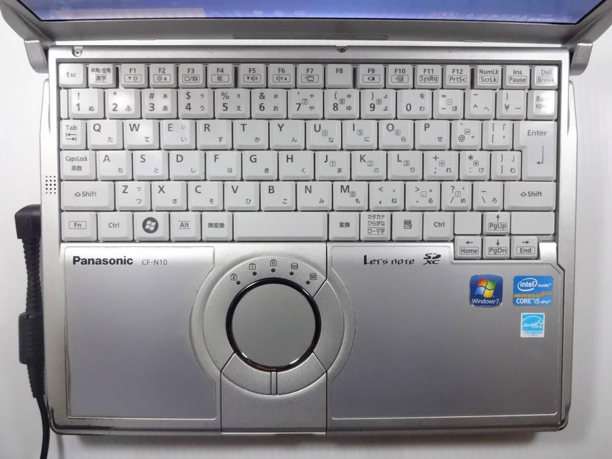 Panasonic Let`s note CF-N10EWGDS Core i5 2540M 2.6GHz 4GB 320GB 10Pro 10150H_画像2