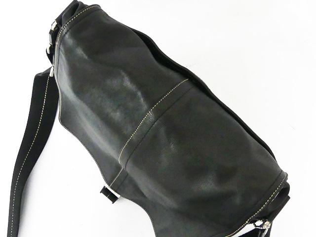 即決★COACH★オールレザーショルダーバッグ オールドコーチ メンズ 黒 ブラック 本革 かばん 本皮 カバン 出張鞄 レディース 斜めかけ _画像5