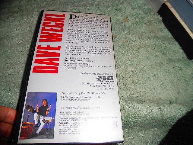Y174 ビデオ DAVE WECKL Back to Basics: An Encyclopedia of Drumming Techniques 1988年 海外版(輸入版) 72分 ドラム_画像2