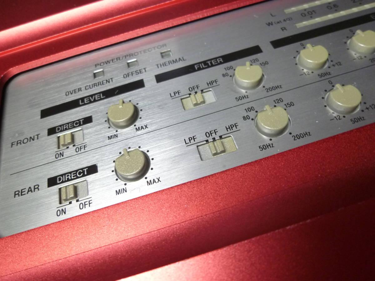 「I'ts a SONY」 ソニー SONY XM-604EQX 4/3/2chパワーアンプ オルタ・ポップノイズ車載動作確認 1週間動作保証有り 送料安いヤフネコ_画像2