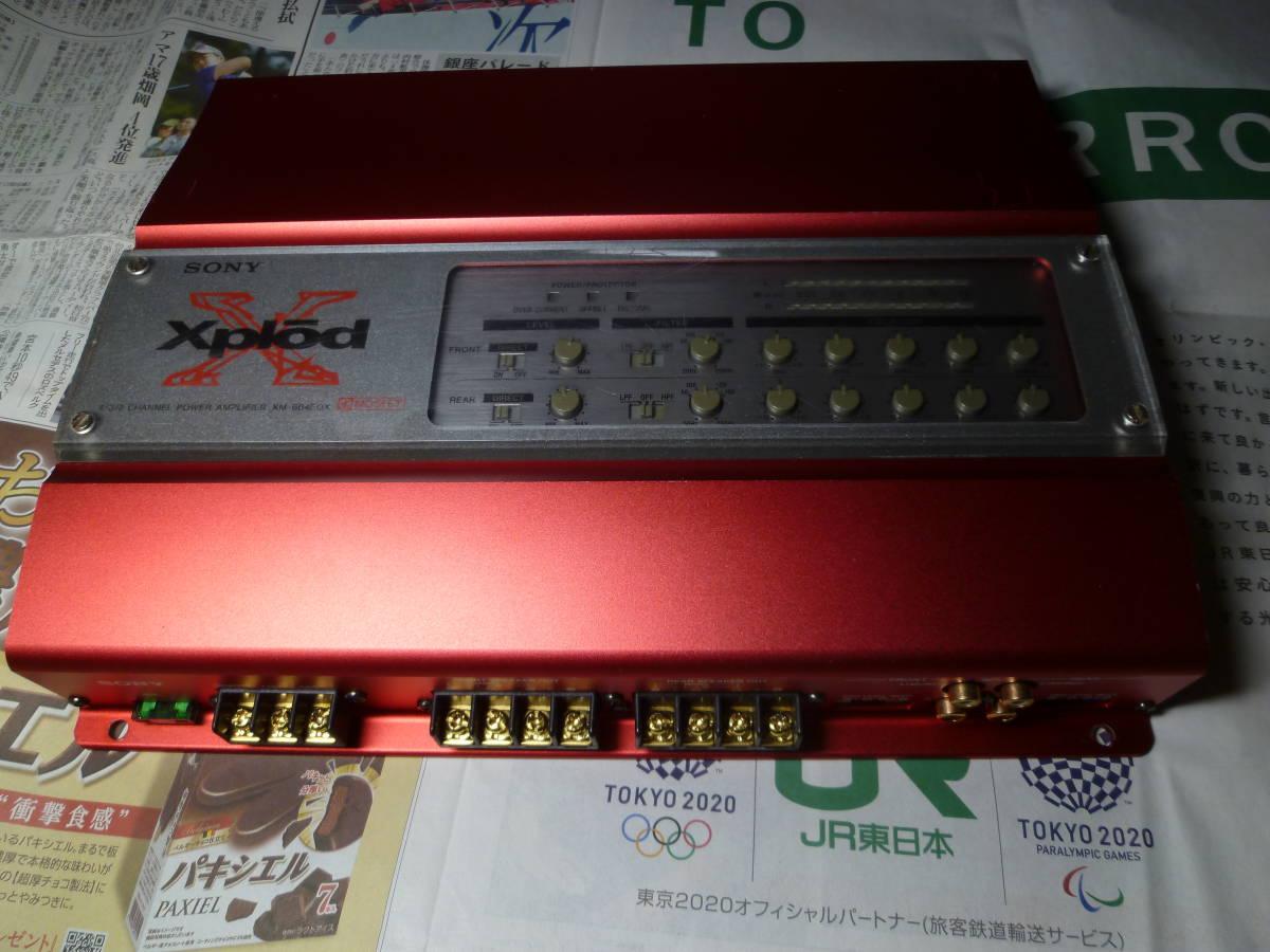 「I'ts a SONY」 ソニー SONY XM-604EQX 4/3/2chパワーアンプ オルタ・ポップノイズ車載動作確認 1週間動作保証有り 送料安いヤフネコ_画像1