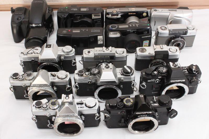 カメラまとめてSET Olympus (OM-1 PEN-EE-2 他)[B0242]
