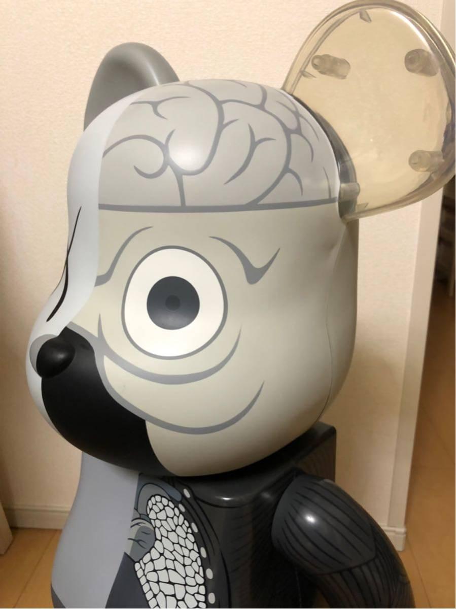 入手困難 BE@RBRICK ベアブリック KAWS 人体模型 グレー 1000% カウズ コンパニオン Original Fake COMPANION オリジナルフェイク_画像4