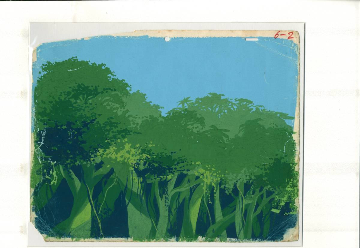 ジャングル大帝 レイアウト+背景画2点 <検索ワード> セル画 原画 イラスト レイアウト 設定資料_画像2