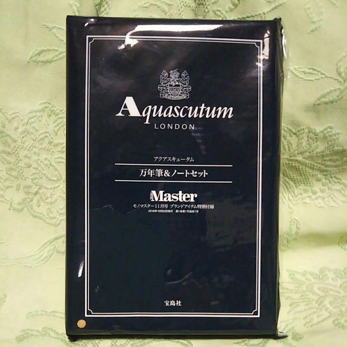 unused * Aquascutum * fountain pen & Note set mono master 11