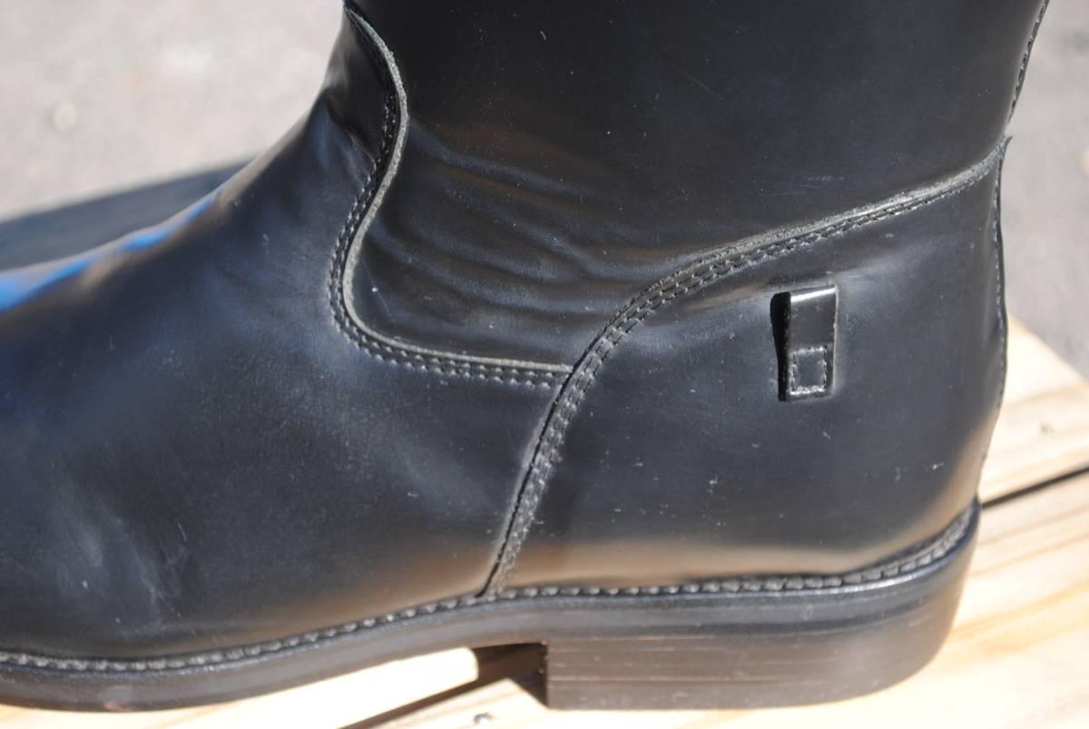 新品 アメリカ製 試作品 ルケーシー 濃茶牛革 ヨーロッパ調 乗馬ブーツ ポロ ブーツ 10D(28cm前後) 高43-46㎝ 履口外周約46㎝_画像5