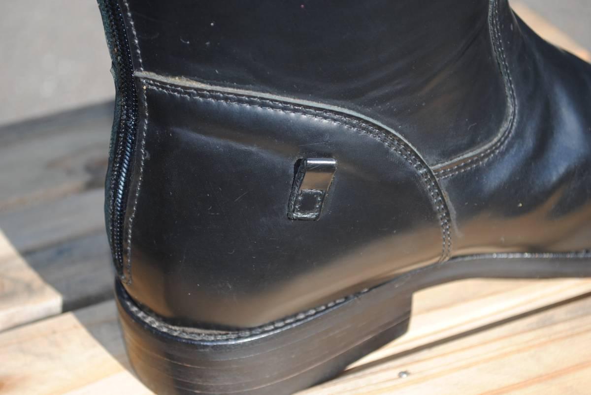 新品 アメリカ製 試作品 ルケーシー 濃茶牛革 ヨーロッパ調 乗馬ブーツ ポロ ブーツ 10D(28cm前後) 高43-46㎝ 履口外周約46㎝_画像6