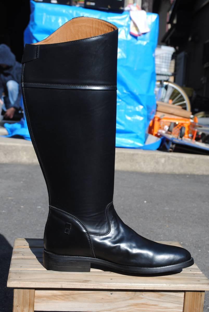 新品 アメリカ製 試作品 ルケーシー 濃茶牛革 ヨーロッパ調 乗馬ブーツ ポロ ブーツ 10D(28cm前後) 高43-46㎝ 履口外周約46㎝_画像3