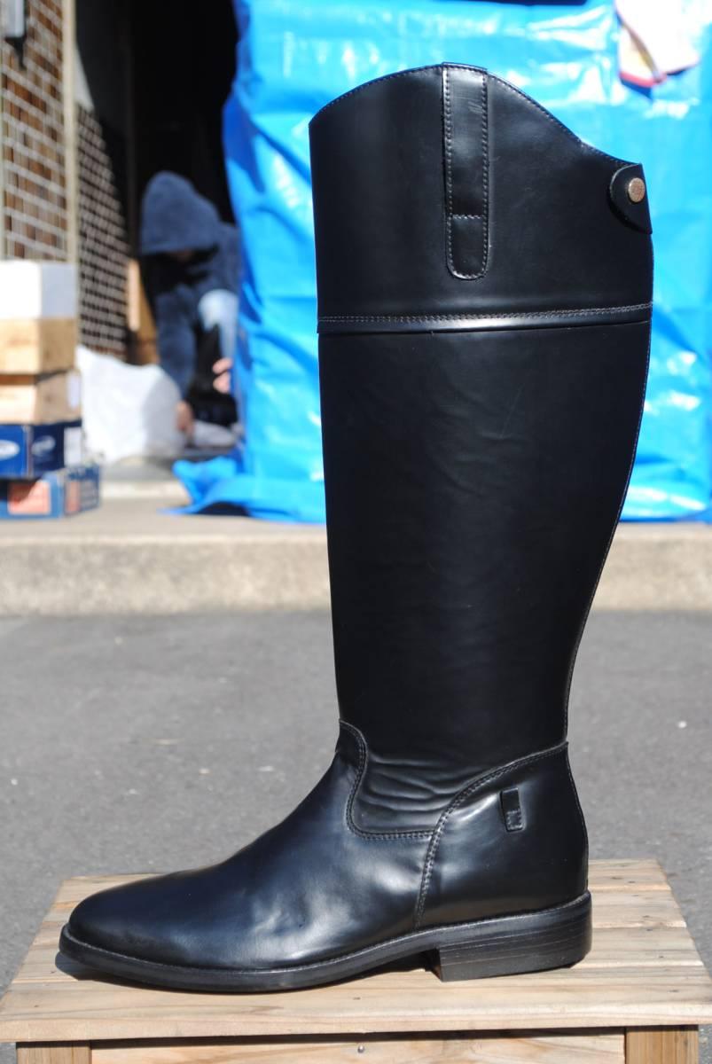新品 アメリカ製 試作品 ルケーシー 濃茶牛革 ヨーロッパ調 乗馬ブーツ ポロ ブーツ 10D(28cm前後) 高43-46㎝ 履口外周約46㎝_画像4