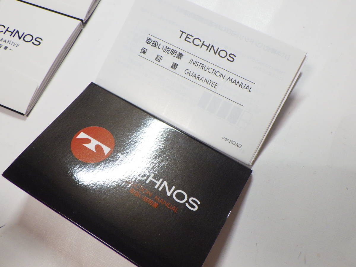 TECHNOS テクノス 冊子 取扱い説明書 6点 @234_画像4