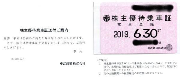 速達送料込☆東武鉄道株主優待乗車証(電車全線定期券型)