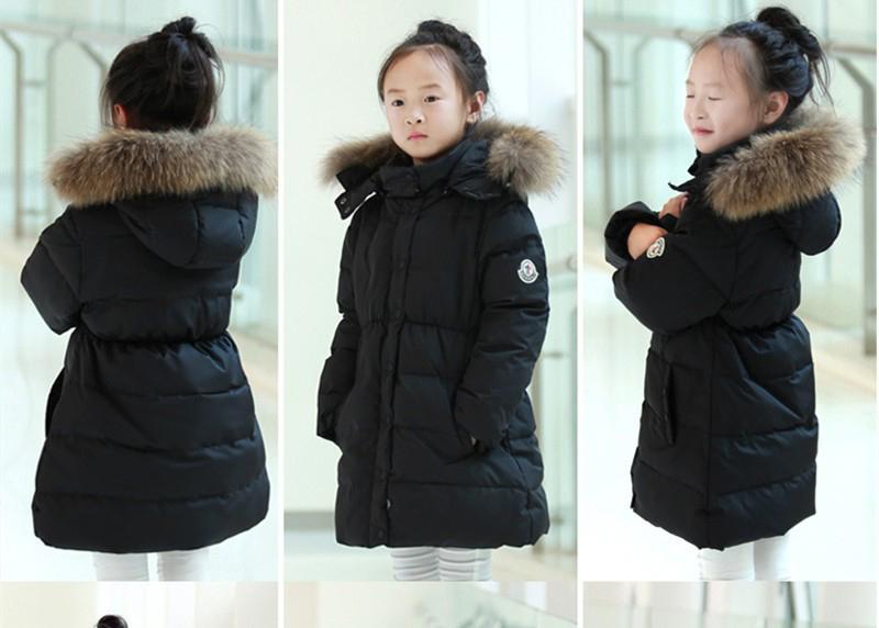 f5beda36535c8 女の子キッズダウンコート白ダウンリアルファーアウター帽子付きファー付きコートフード付き子供120cm ブラック. 商品數量  :1