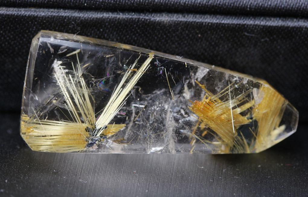 【古憶】★高品質★タイチンルチルクォーツ 針入り水晶パワーストーン 原石 鉱物 標本 ブラジル産鉱石 高透明度7.5g/kb153_画像3