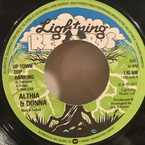 ★Althia & Donna/Up Town Top Ranking ★MURO MIX収録LOVERS!7inch 45