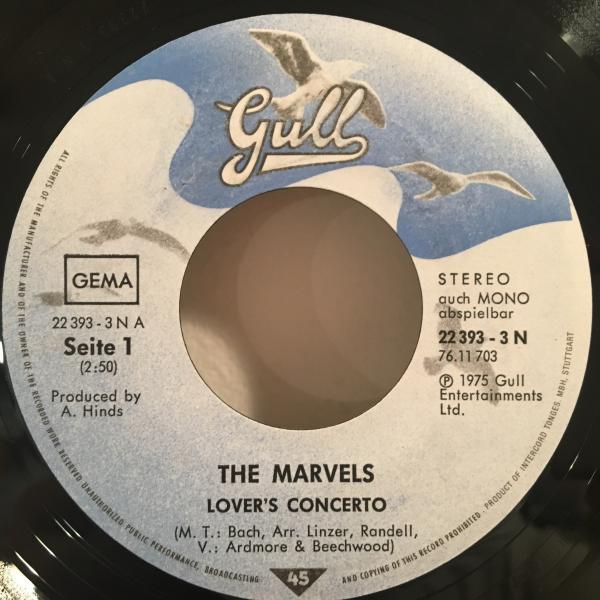 ★Marvels/Lover's Concerto★クラシック名曲カバー!7inch 45_画像2