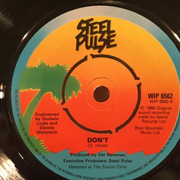 ★Steel Pulse/Don't Give In★KILLER UK ROOTS!7inch 45_画像2