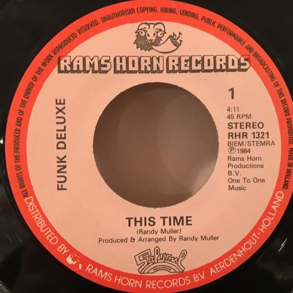 ☆Funk Deluxe/This Time☆SYNTH BOOGIE!7inch 45_画像2