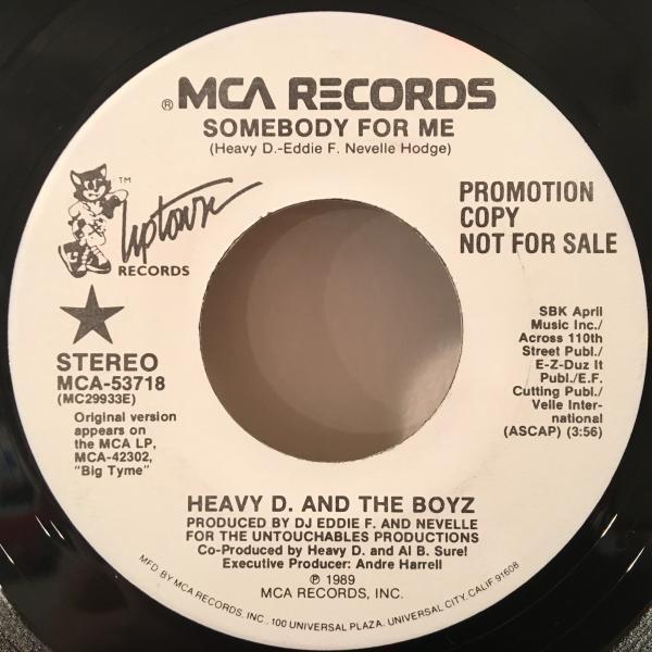 ☆Heavy D. & The Boyz/Somebody For Me☆R&B NEW JACK SWING名曲!7inch 45_画像1