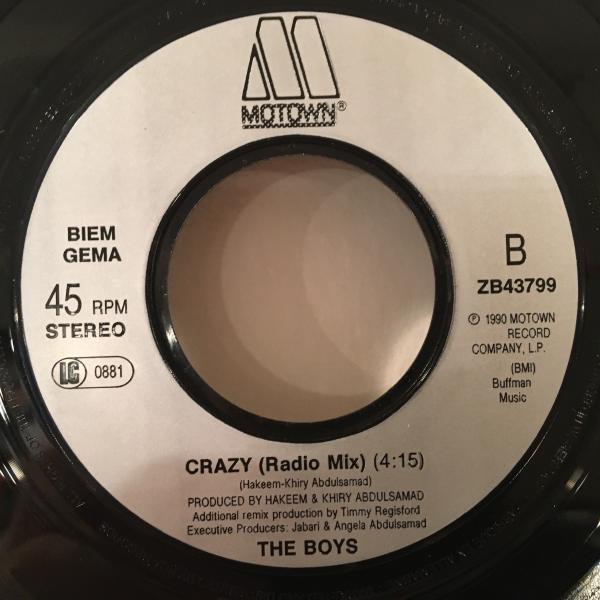 ☆The Boys/Crazy☆R&B NEW JACK SWING名曲!7inch 45_画像3