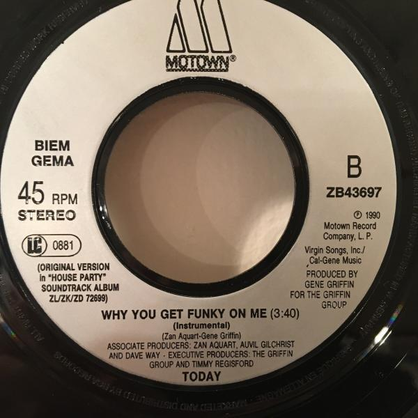 ☆Today/Why You Get Funky On Me☆R&B NEW JACK SWING名曲!7inch 45_画像3