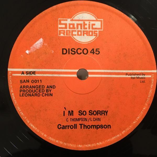 ★Carroll Thompson/I'm So Sorry★LOVER ROCK定番名曲!_画像1