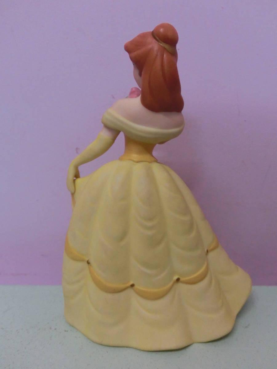 ディズニー 美女と野獣◆ベル 陶器 フィギュア 人形 ビンテージ◆Disney Beauty and the Beast 映画 Belle プリンセス_画像5