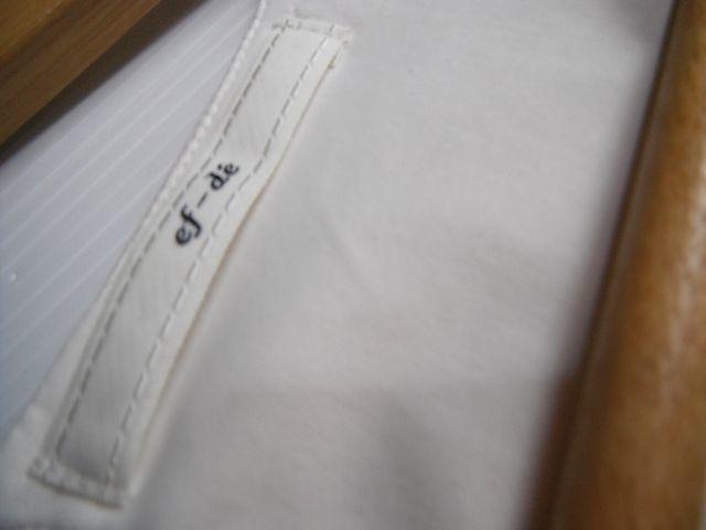 ☆エフデ ef-de☆上品パールビジュー飾りのシフォンブラウス トップス 半袖  シャツ レディース アイボリーベージュ☆9号_画像4