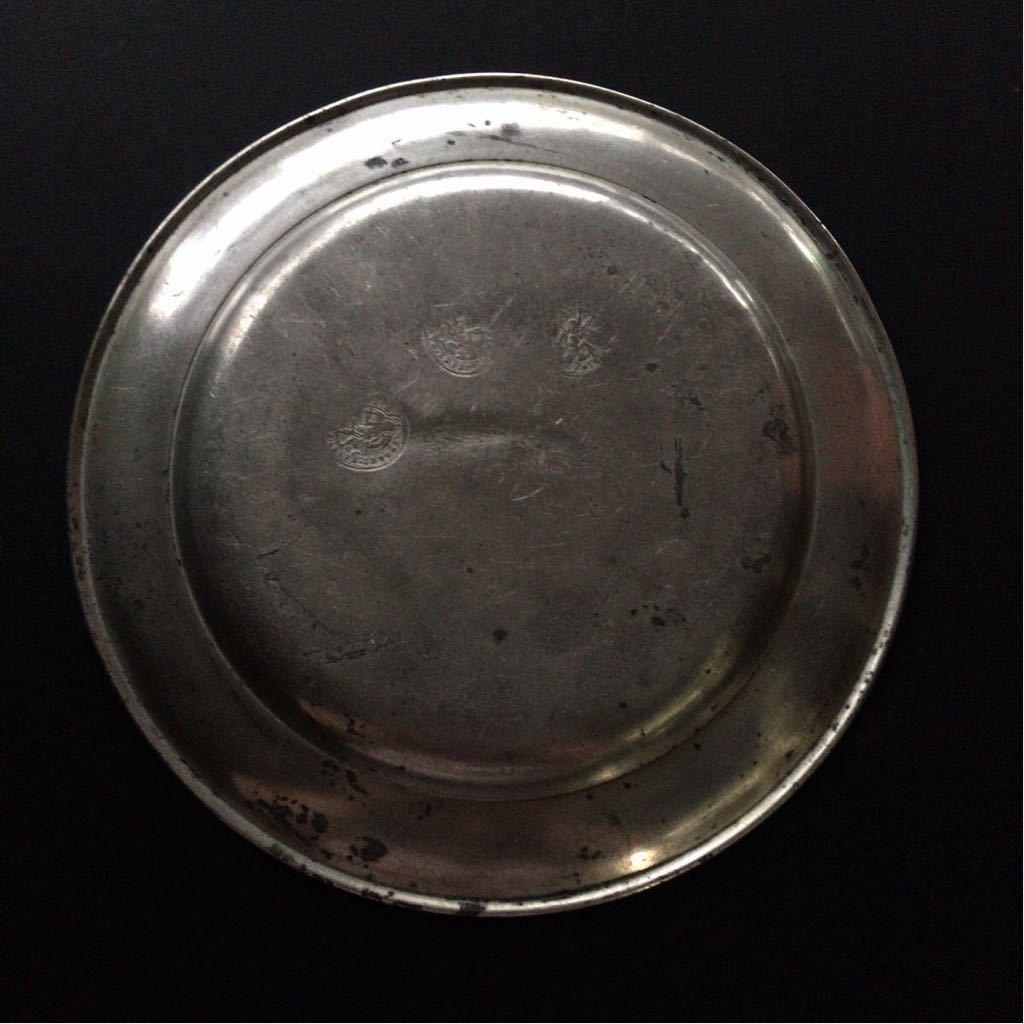 18世紀 フランス ピューター皿 1...