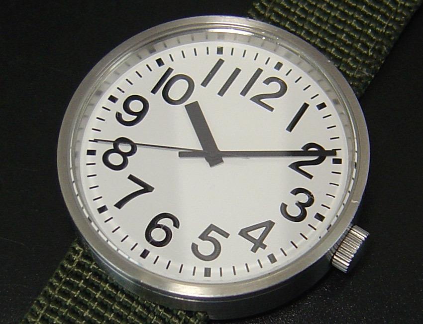 送料185円 無印良品 シンプル 公園の時計 自動巻 男女兼用 腕時計 中古 ミリタリーベルト