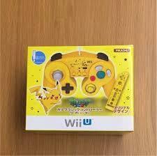 即決 Wii WiiU クラシック コントローラー ピカチュウ ポケモン スマブラ 動作品 _画像1